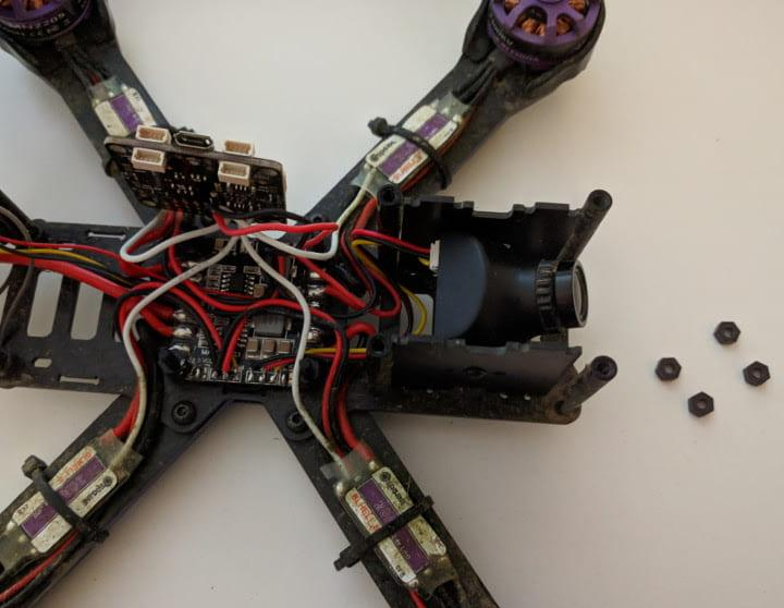 Remove flight controller nuts