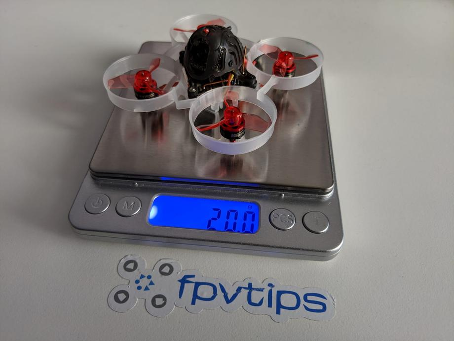 Mobula6 on the scale comes in at 20g dry weight