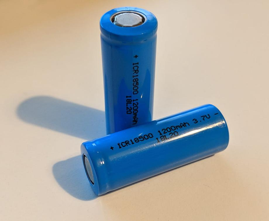 Two 18500 batteries