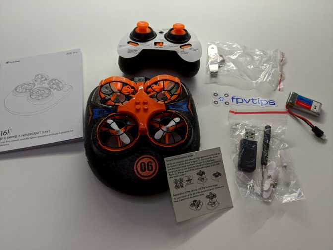 Eachine E016F: Hovercraft and drone