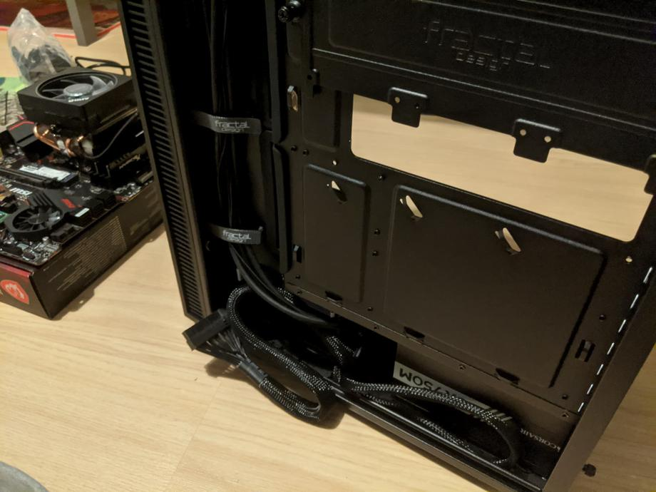 Make sure to allow cables from the PSU to the motherboard