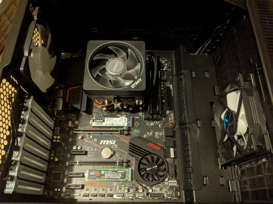 Motherboard installed in the case