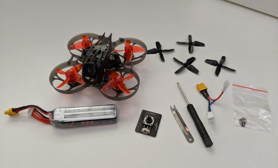 Mobula7 HD, 1 3S battery, camera controller, screwdriver, xt30 to two ph2.0s, screws, props, propeller remover