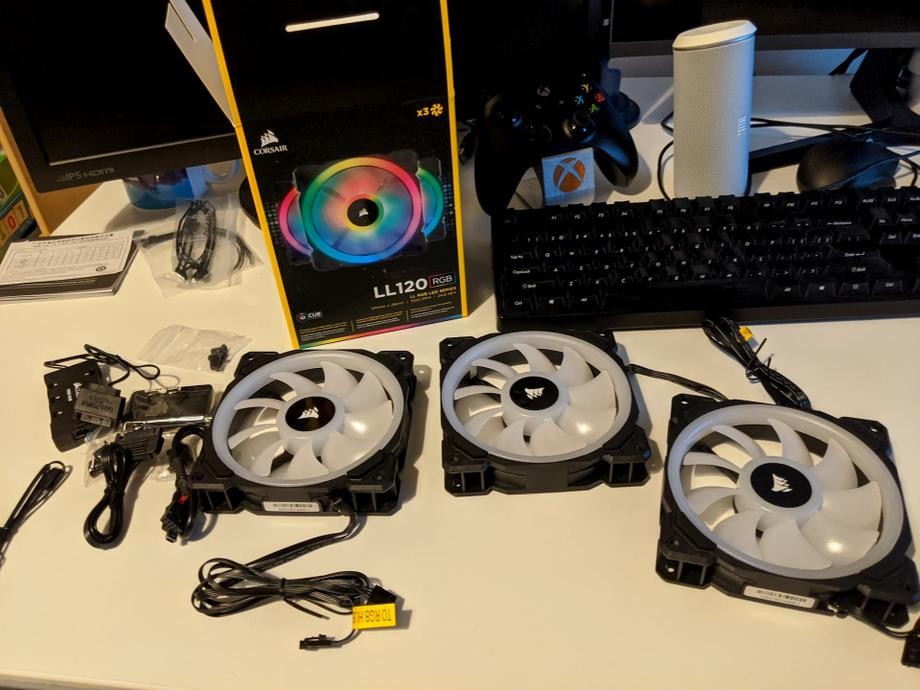 Corsair LL120 RGB fans arrived