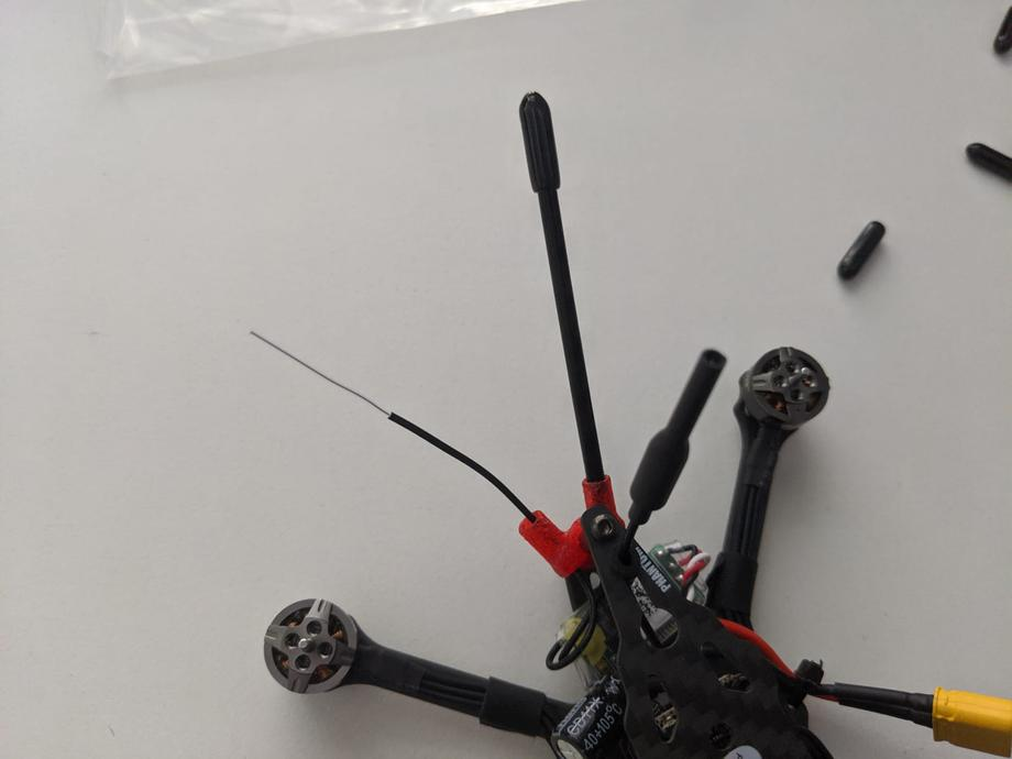 receiver antenna tube and tip installed on the GEPRC Phantom drone