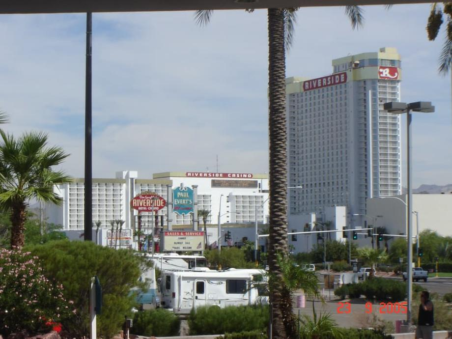 Distant shot of Don Laughlin's Riverside Resort, Hotel and Casino