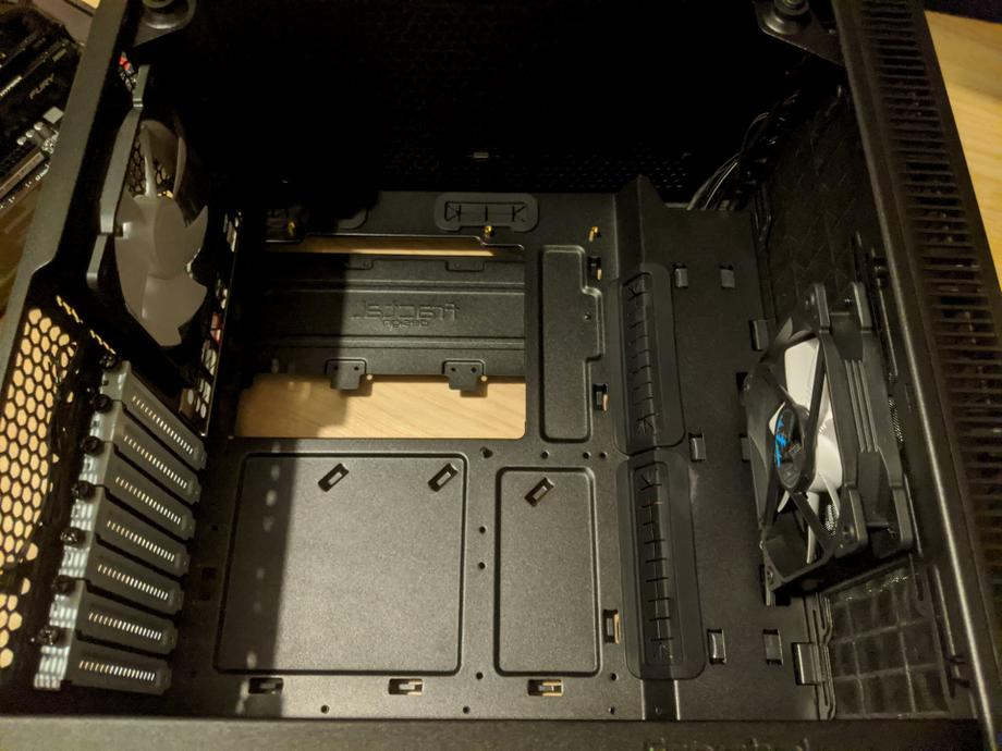 Case ready to accept motherboard
